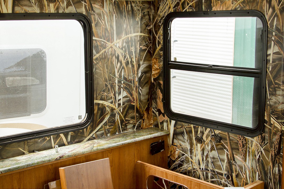 RV Wall Covering update with counter tops