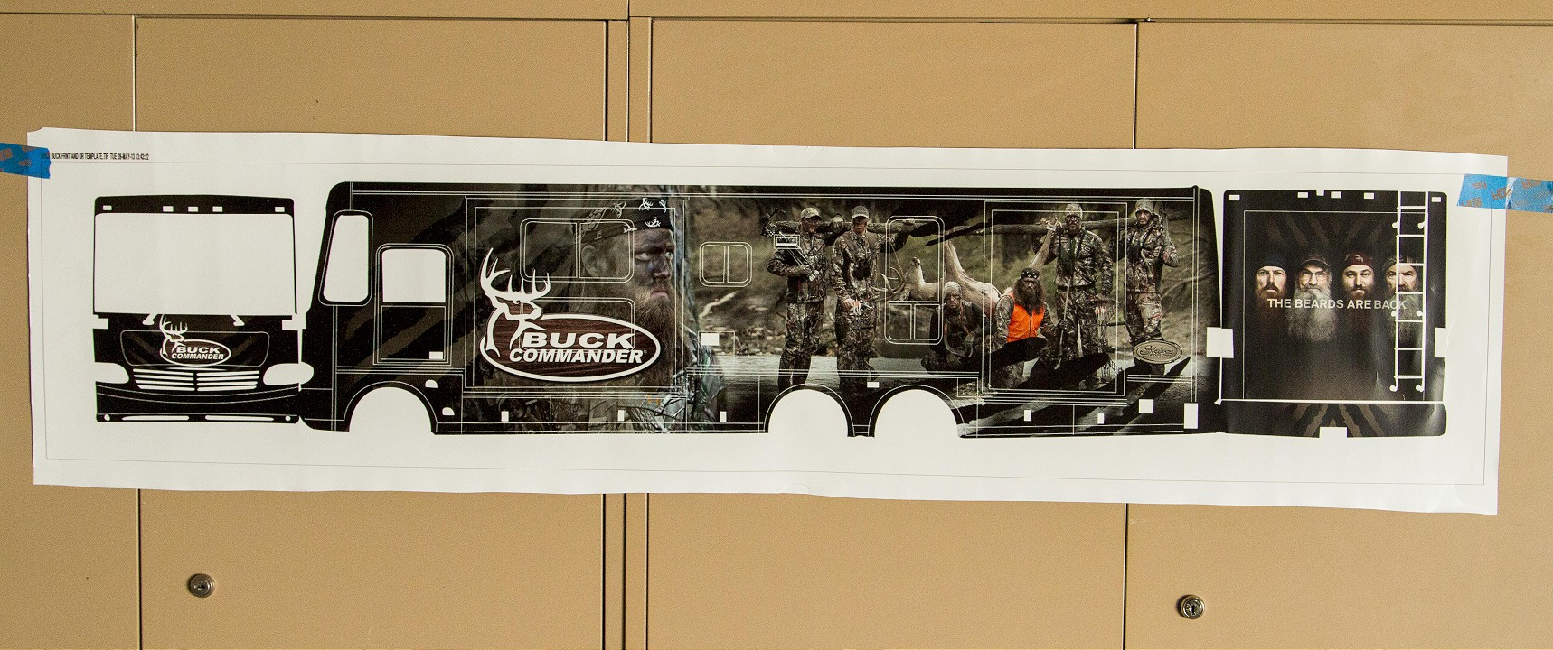 Duck Commander Custom RV Wrap Design Phase - Front & Side Design/Layout